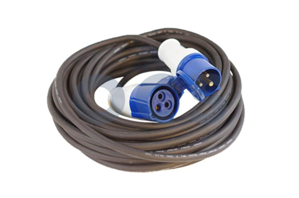 1101101 Vechline Verloopkabel 3x1,5 mm²/max.3600W/230V/16A 15mtr CEE-CEE