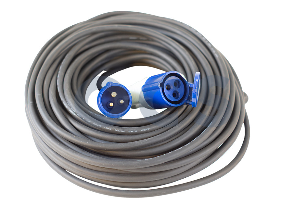 1101103 Vechline Verloopkabel 3x1,5 mm²/max.3700W/230V/16A 40mtr CEE-CEE
